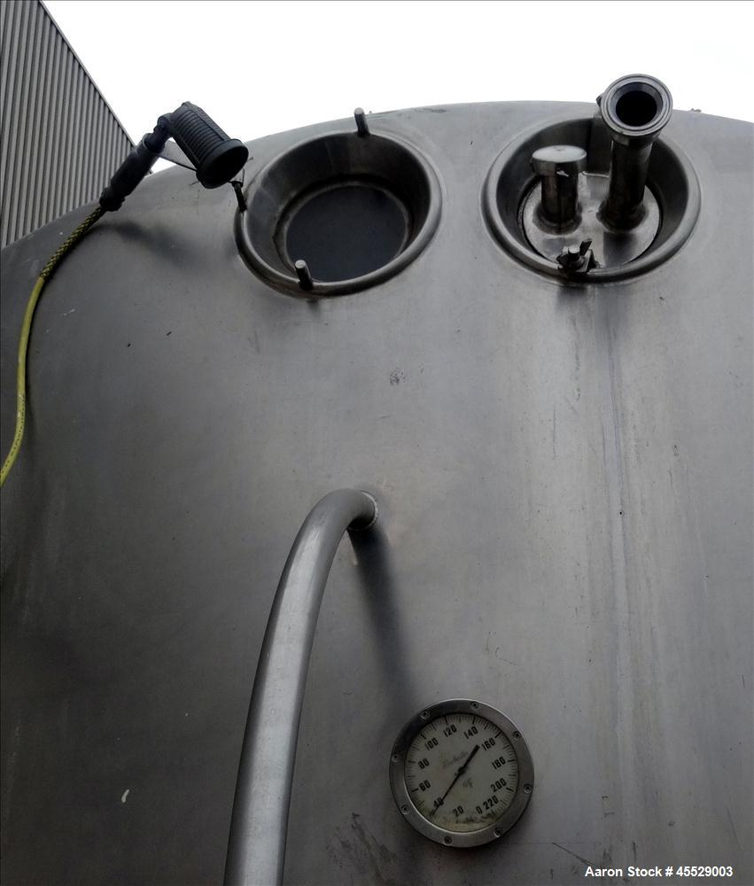 Used- 6,000 Gallon Stainless Steel Dairy Craft Tank