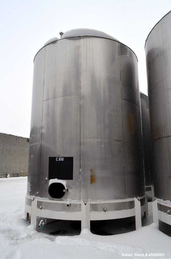 Used 15000 Gallon Douglas Brothers 304 Stainless Steel Tank
