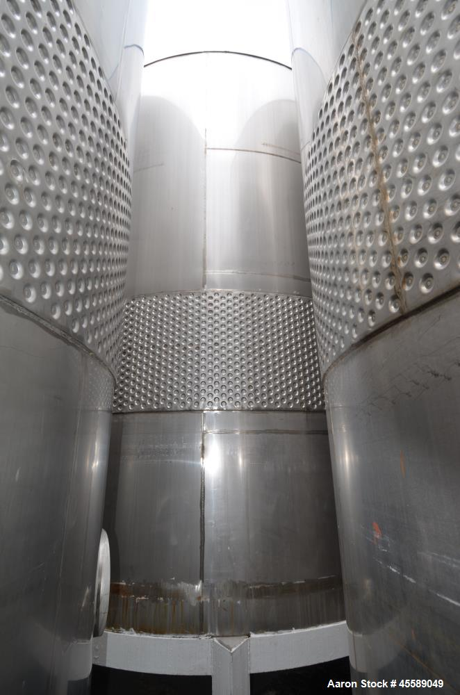 Used 16000 Gallon Douglas Brothers 304 Stainless Steel Vertical Tank