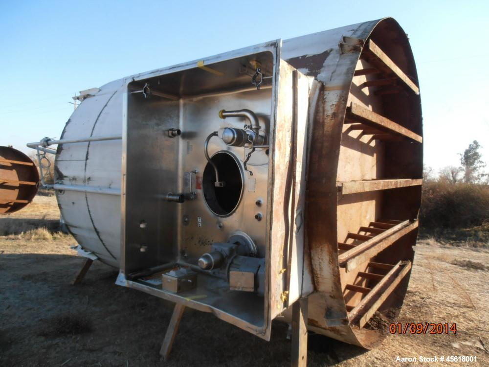 Used- Stainless Steel APV Crepaco, Tank, 6,000 Gallon