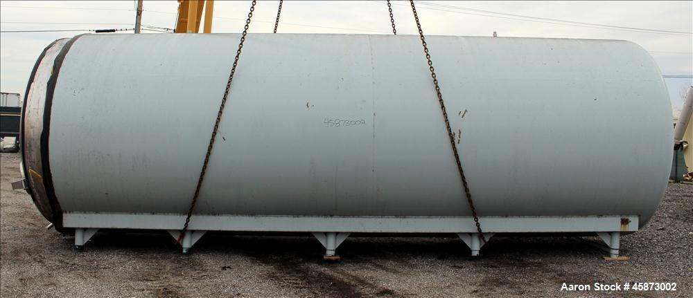 Used- Walker Stainless Steel Equipment Co. Tank, Model 8480, 10,000 Gallon, 304 Stainless Steel, Horizontal. Approximately 1...