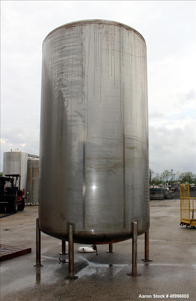 Used- Walker Stainless Tank, Model SS, 6,000 Gallon, 304 Stainless Steel