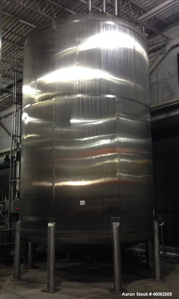 Used- Inox-Tech, Inc. 15,000 Gallon 316L Sanitary Stainless Steel Storage Tank