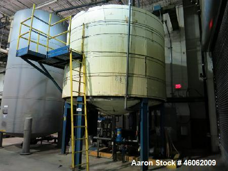 "Used- Tank, 6,800 Gallon, Stainless Steel. Approximate 12' diameter x 8' straight side with an approximately 24"" deep cone. ..."