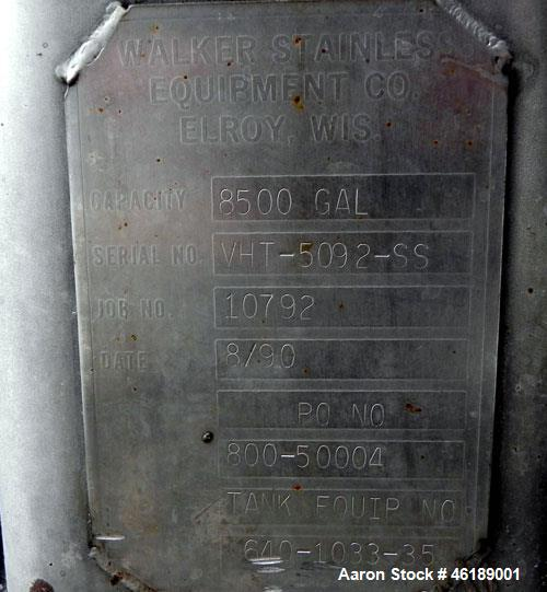 Used- Walker 8500 Gallon Stainless Tank