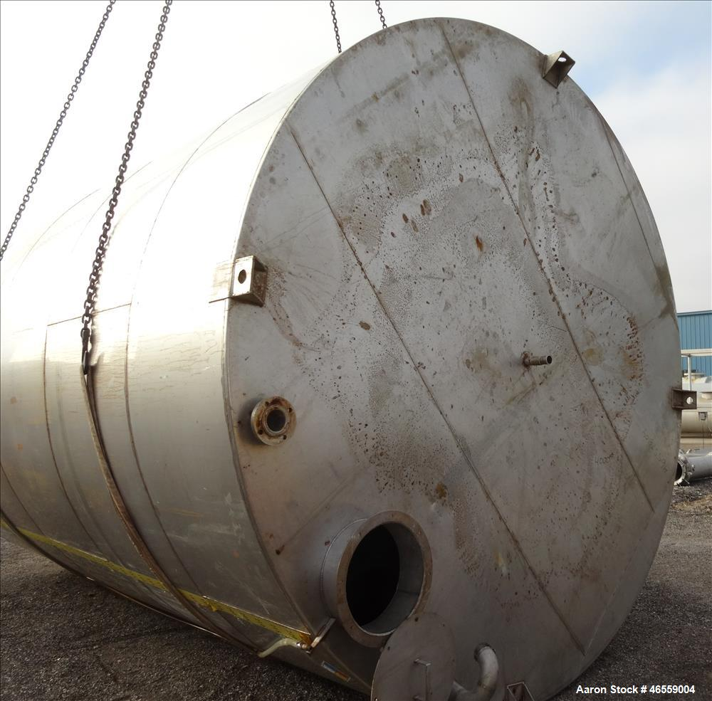 "Used- Tank, approximate 18,000 Gallon, Approximate 150"" Diameter x 226"" to 228"" Straight Side, 316 Stainless Steel, Vertical..."