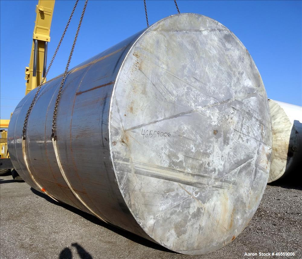 Used- Stainless Steel Tank, 18,000 Gallon,