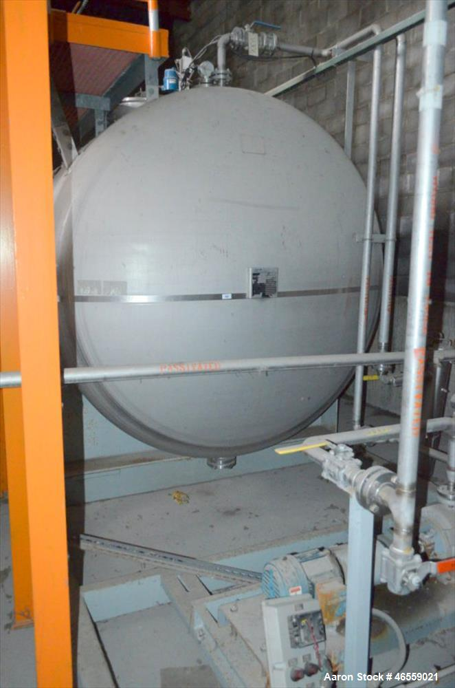 Used- Coastal Industrial Fabricators 9,500 Gallon Storage Tank.