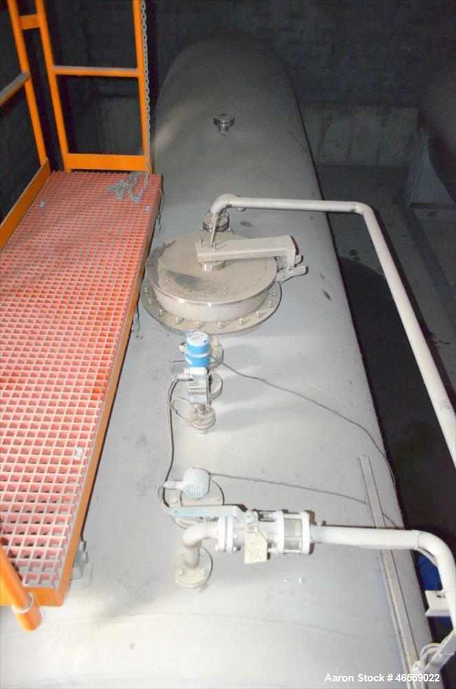 Used- Coastal Industrial Fabricators Storage Tank, 9,500 Gallon,  304 Stainless Steel Horizontal Bulk Storage Tanks with Dis...