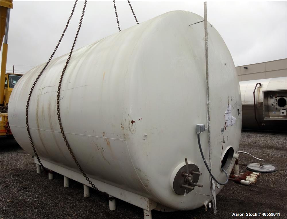 "Used- Crepaco Industries Tank, Approximately 10,000 gallon, 304 Stainless Steel, Horizontal. Approximate 124"" diameter x 196..."
