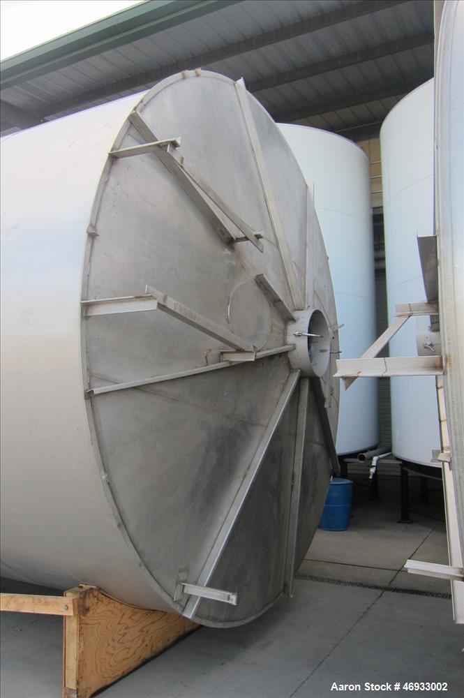 Used- Ametek Valley Foundry & Machine Works Food Grade Stainless Steel Storage T