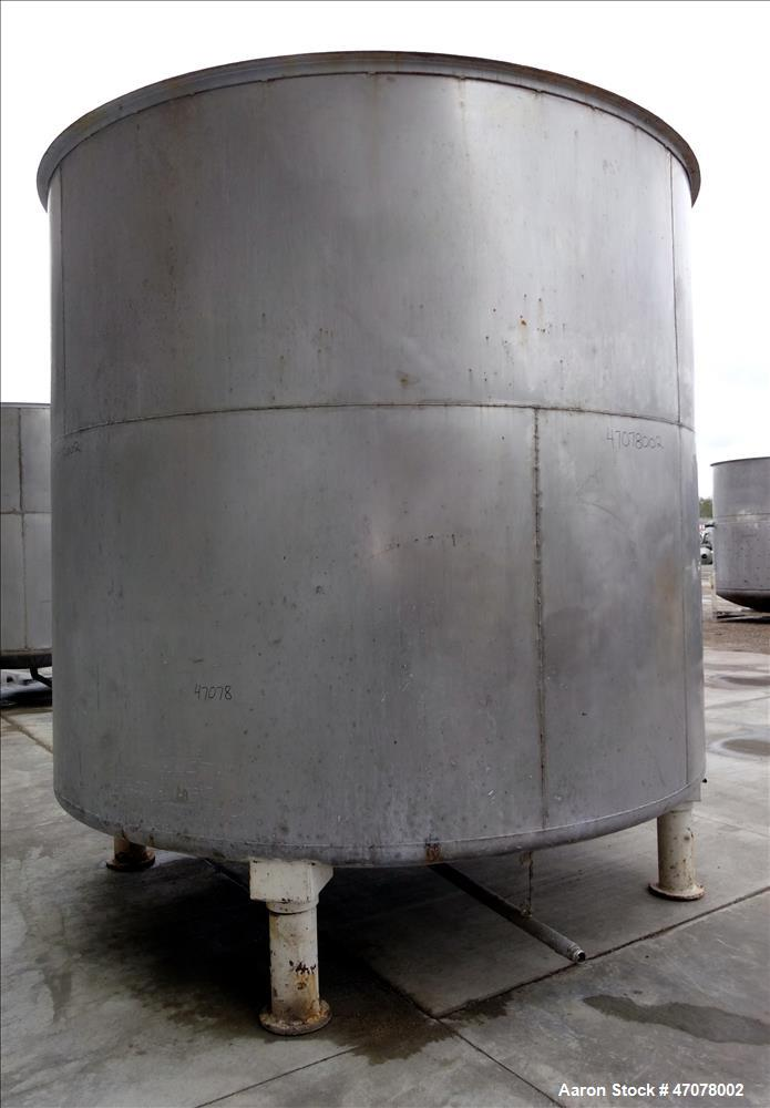 Used- Tank, Approximate 6,000 Gallon, 304 Stainless Steel, Vertical.