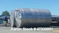 "Used- Approximately 35,000 Gallon 316SS, Storage Tank. Approximatley 15' 6"" diameter x 27' 9"" straight side. Slight cone top..."
