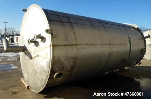 "Used- Roberts Company Tank, API Standard 650, Approximate 6,500 Gallons. 316L Stainless Steel, vertical. 96"" Diameter x 202""..."