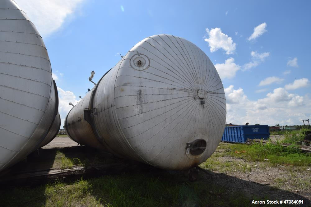 "Used- Mueller Tank, 45,000 Gallon, Model H, 316L Stainless Steel, Horizontal. Approximate 148-1/2"" diameter x 564"" straight ..."