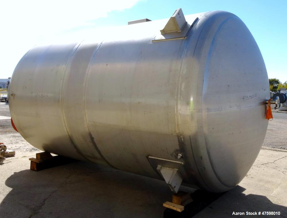 "Unused- Crown Iron Works Pressure Tank, 5,497 Gallon, 316L Stainless Steel, Vertical. 102"" Diameter x 141"" straight side, di..."