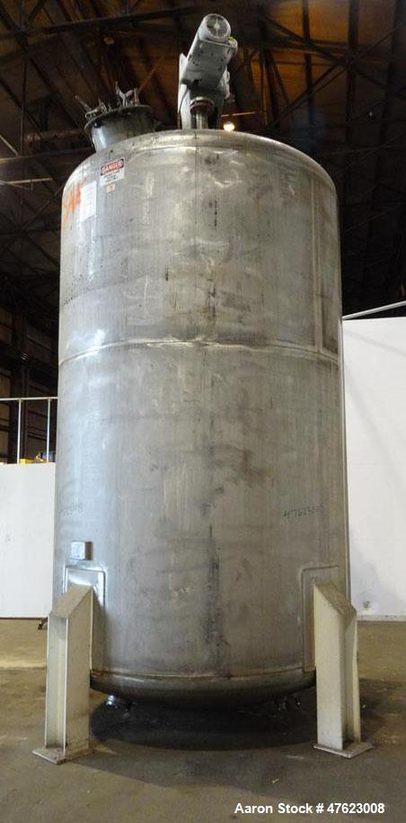 Used- Steel-Pro Inc. Tank, 5,800 Gallon, 304 Stainless Steel, Vertical