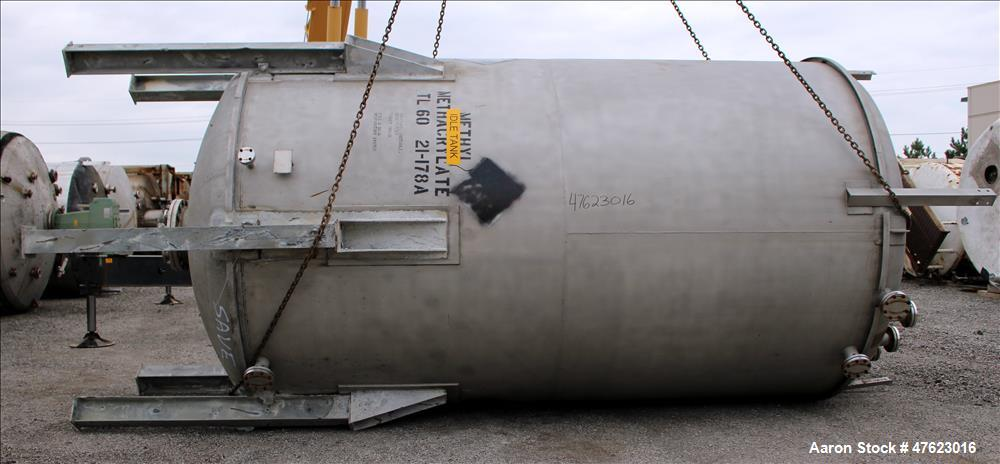 Used- Steel-Pro Inc. Tank, Approximate 10,000 Gallon, 316 Stainless Steel, Verti