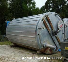Used- 8,000 Gallon 304 Stainless Steel Tank. Tank was manufactured by Eisenback Equipment Sales in 2012. Tank is 16' straigh...