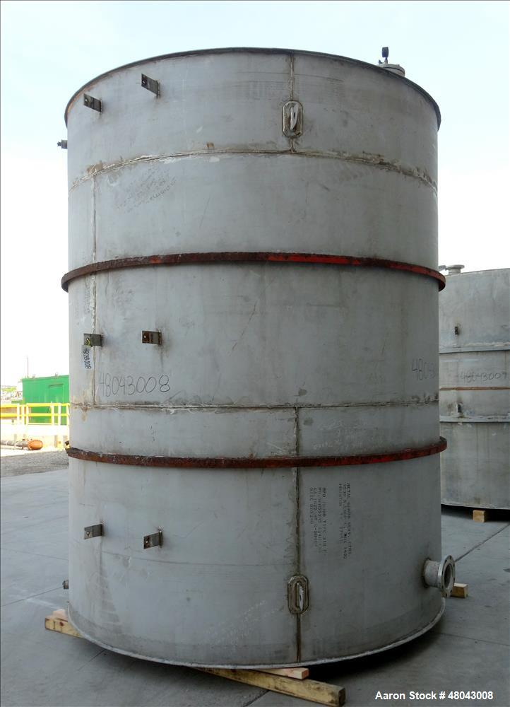 Used- Wm. D. Nichols inc. Storage Tank, 6,000 Gallon, 316 Stainless Steel, Verti