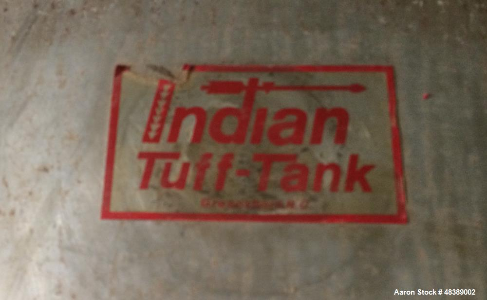 Used-Indian Tank, Approximately 12,000 Gallon. Stainless steel.  10' diameter x 24' long. Horizontal. Dished Heads. Top moun...
