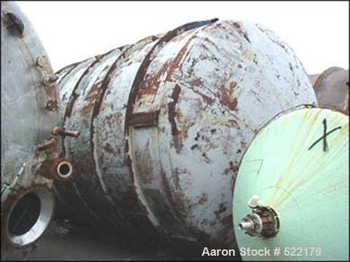 "Used- Mueller Agitated Tank, 20,000 Gallon, 316L Stainless Steel, Vertical. 11'6"" diameter x 25'10"" straight side, dished to..."