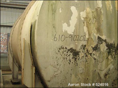 USED: 15,000 Gallon, 304 stainless steel, storage tank. Horizontalconstruction, 12' diameter x 17' straight side, dished end...