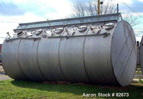 Used- Clawson Tank 5 Compartment Horizontal Tank, 15,000 total gallons, 3,000 gallons each compartment, 304 stainless steel....