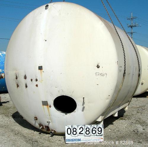 "Used- Chester Jensen Tank, 5,000 gallon, Model AHC, 304 stainless steel, horizontal. 114"" diameter x 98"" straight side, dish..."