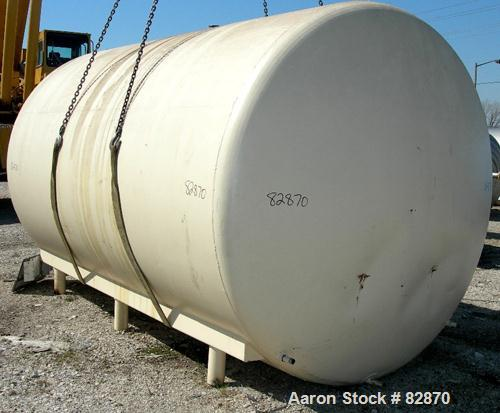 "USED: Tank, 5,000 gallon, 304 stainless steel, horizontal. 96"" diameter x 150"" straight side, dished heads. Bottom of tank d..."