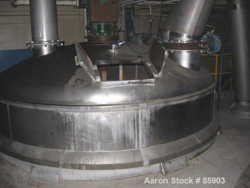 "Used- Bishopric Products Co (Enerfab Inc) 9000 Gallon Dimple Jacketed Mix Tank, 304 stainless steel. 12' diameter x 9'6"" str..."