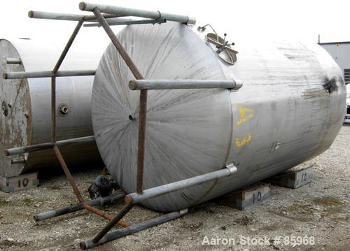 "Used- Tank, 5,000 Gallon, 304 Stainless Steel, Vertical. Approximate 102"" diameter x 144"" straight side. Dish top and bottom..."