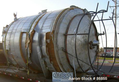 "Used- Wolfe Mechanical and Equipment Tank, 7,660 Gallon, 304L Stainless Steel, Vertical. Approximate 120"" diameter x 156"" st..."