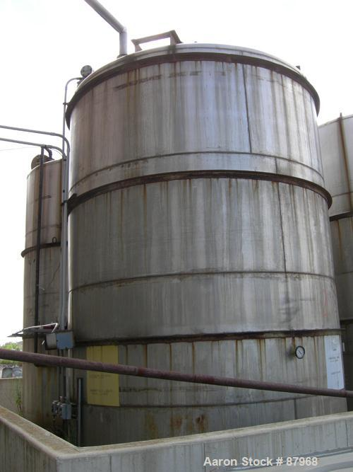 "USED: Tower Iron Works 10,245 gallon tank. 10'9"" diameter x approximately 15' straight side. Flat top and bottom. 4 side wal..."