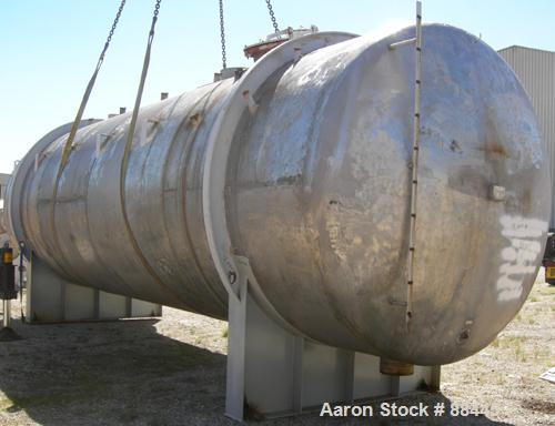 "USED: Fesco tank, 20,000 gallon, 304 stainless steel, horizontal. Approximate 120"" diameter x 384"" straight side. Dished hea..."