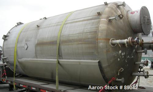 "USED: Chicago Boiler tank, 6000 gallon, 316 stainless steel, vertical. Approximately 96"" diameter x 16' straight side, dish ..."