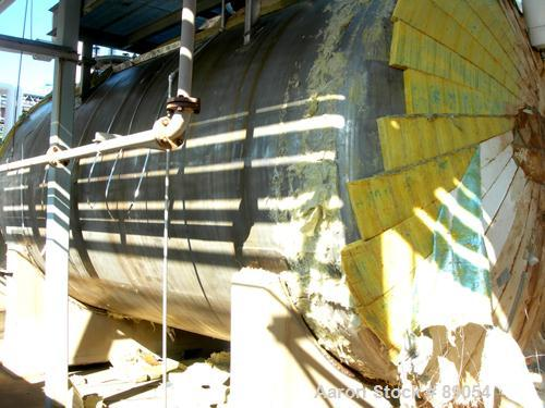 "USED: Walker Stainless tank, 8,500 gallon, 316 stainless steel, horizontal. Approximately 9' diameter x 16'9"" straight side,..."