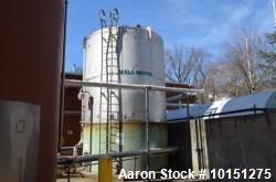 Used- 15,000 Gallon (Approximately) Stainless Steel Tank. Dished top, cone bottom. 12 foot diameter x 20 foot straight side....