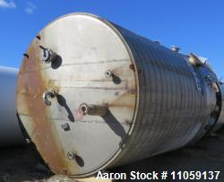 Tate Metal Works 15,200 Gallon Stainless Steel Storage Tank. Approximately 12' diameter x 18' T/T. ...