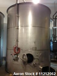 Ripley Wine Fermentation Tank. 6,800 gallon capacity (26,000 liter). All 304 stainless steel constr...
