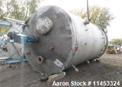 12,000 Gallon Process Industries Mix Tank. 304 stainless steel construction. Approximately 12' diam...