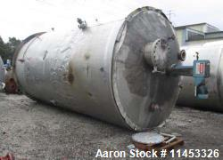 12,000 Gallon 304 Stainless Steel Tank. 12' diameter x 16' straight side. 4' carbon steel skirt, di...