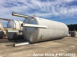 "Used- Industrial Alloy Fabricators Inc. Approximately 25,000 Gallon 304 Stainless Steel Vertical Tank. 12' diameter x 29'-2""..."