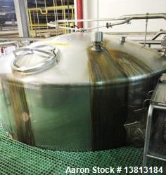 Feldmeier 6000 Gallon Stainless Steel Vertical Storage Tank. Approximately 10' diameter x 9' straig...