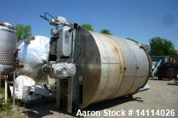 7,200 Gallon Stainless Steel Scrape Agitation Tank. Jacketed, 316L stainless steel, vertical. 10' i...