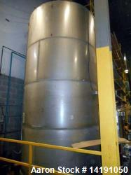 Eisenback 6,000 Gallon Stainless Steel Vertical Storage Tank. 304 stainless steel. Flat bottom, dis...