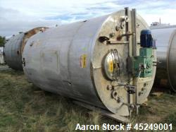 Used- 5555 Gallon Stainless Steel Services Ltd Open Mixing Tank.