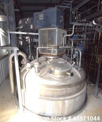 "Used- Steel-Pro Pressure Tank, Approximate 6300 Gallons, 304L Stainless Steel, Vertical. Approximate 74"" diameter x 318"" str..."