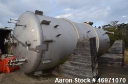 "Unused- JMW James Machine Works Pressure Tank, 14,000 Gallon, 316L Stainless Steel, Vertical. 120"" Diameter x 300"" straight ..."