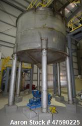 d- WesTech Tank, Approximate 7000 Gallon, 316 Stainless Steel, Vertical. 12' Diameter x 8' straight ...